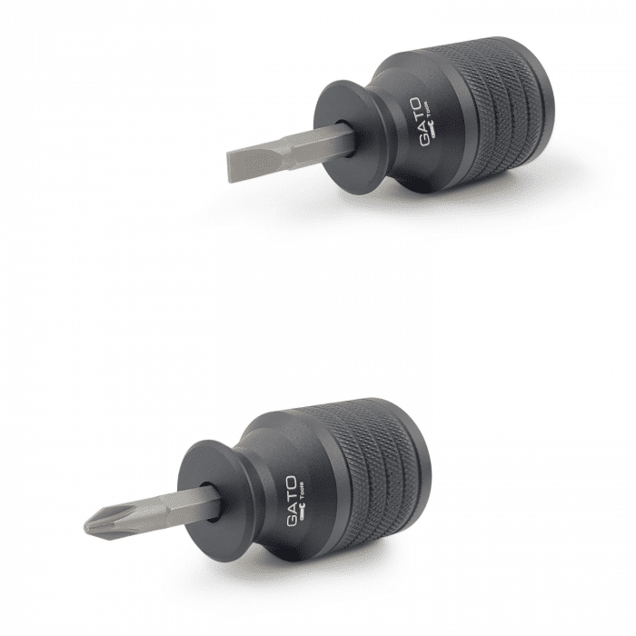 Short Stubby Screwdriver - Reversible Phillips and Slotted-Flat Tip – Magnetic – Gato Tools